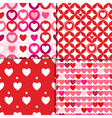 valentine patterns pink vector image vector image