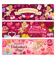 valentines day holiday romantic gifts love hearts vector image vector image