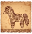 Vintage ethnic horse vector image