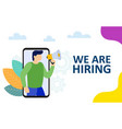 we are hiring a professional manager vector image