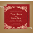 wedding card red vector image vector image