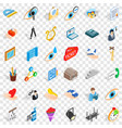 work internet icons set isometric style vector image vector image