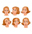 young women heads vector image vector image