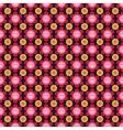 Hippie flower pattern vector image