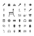33 studio icons vector image vector image