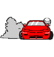 8bit s13cartoon vector image