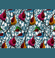 african wax print fabric ethnic flower pattern vector image vector image