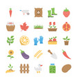 agriculture and farming flat icons
