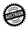 Authentic austrian product stamp vector image vector image