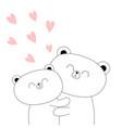 bear couple hugging family hug embrace cuddle vector image vector image