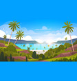 beautiful seaside landscape summer beach with palm vector image
