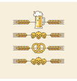 Beer linear design elements vector image vector image