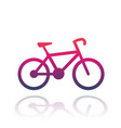 bicycle icon over white vector image vector image