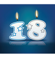 Birthday candle number 18 vector image