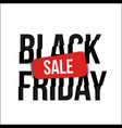 black friday sale banner with glitch distortion vector image vector image