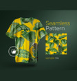 bright tropical seamless pattern with jungle vector image vector image