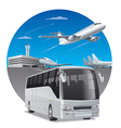 bus in airport vector image
