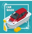 Business concept car wash Car wash auto cleaner vector image vector image