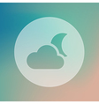 Cloud Moon transparent icon Meteorology Weather vector image vector image