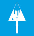 construction trowel icon white vector image vector image