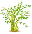 cool green yellow bamboo tree cartoon