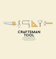 craftsman tool design background vector image vector image