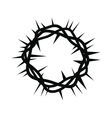 Crown of thorns black simple icon vector image