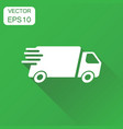 delivery truck icon business concept fast vector image