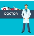 Doctor Health care Medical flat vector image