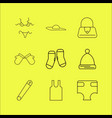 dress and clothes linear icon set simple outline vector image vector image