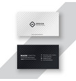 elegant black and white business card design vector image vector image