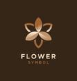 elegant star flower for cosmetic logo design vector image vector image