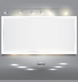 empty white banner for product advertising