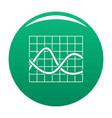 finance chart icon green vector image vector image