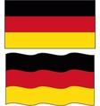 Flat and waving Germany Flag vector image vector image