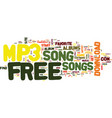 free mp song text background word cloud concept vector image vector image
