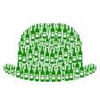 gentleman hat collage of wine bottles vector image