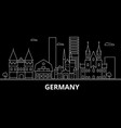 germany silhouette skyline germany city vector image vector image