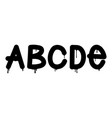 graffiti tag style alphabet vector image vector image
