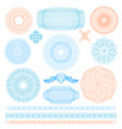 guilloche rosette signs color thin line icon set vector image
