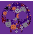 Halloween hand drawing set of elements Full color vector image