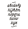 hand drawn cursive font alphabet vector image vector image