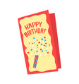 happy birthday card cartoon vector image