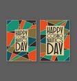 happy cosmonauts day card vector image
