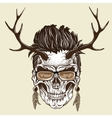 Hipster skull of human vector image