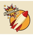 Kaboom explosion pop art comic design vector image