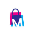 m letter shop store shopping bag overlapping