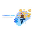 make money online business concept vector image