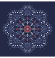 Mandala style lace doily Round pattern vector image