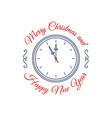 merry christmas happy new year colorful vintage vector image vector image